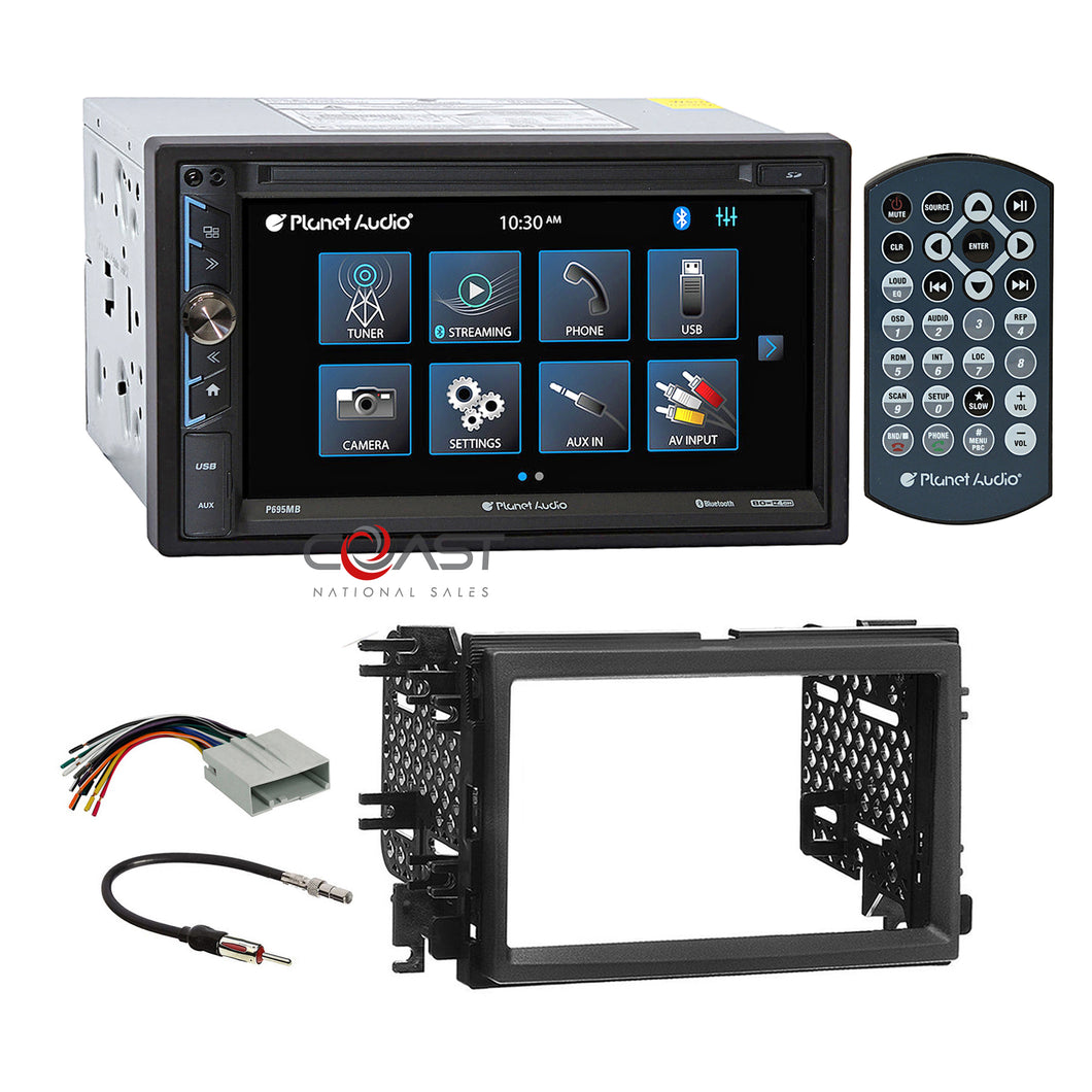 Planet Audio USB MP3 Bluetooth Stereo Dash Kit Harness for Ford Lincoln Mercury