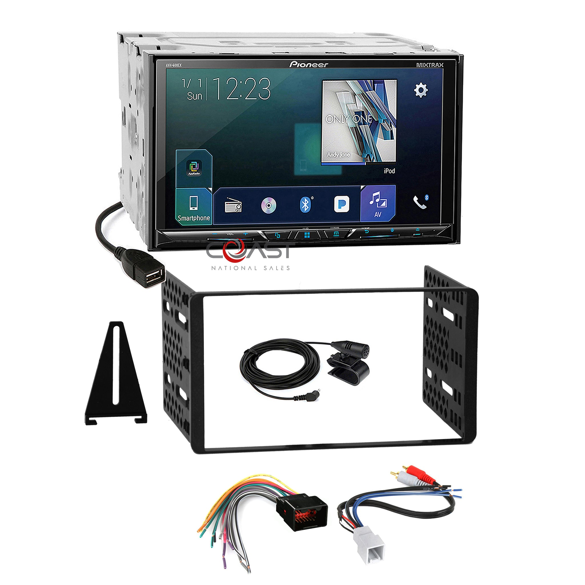 Metra Electronics Corp Gray Ford Transit Connect with OEM 4.3 Screen Metra 99-5831G Double//Single DIN Dash Kit for 2014