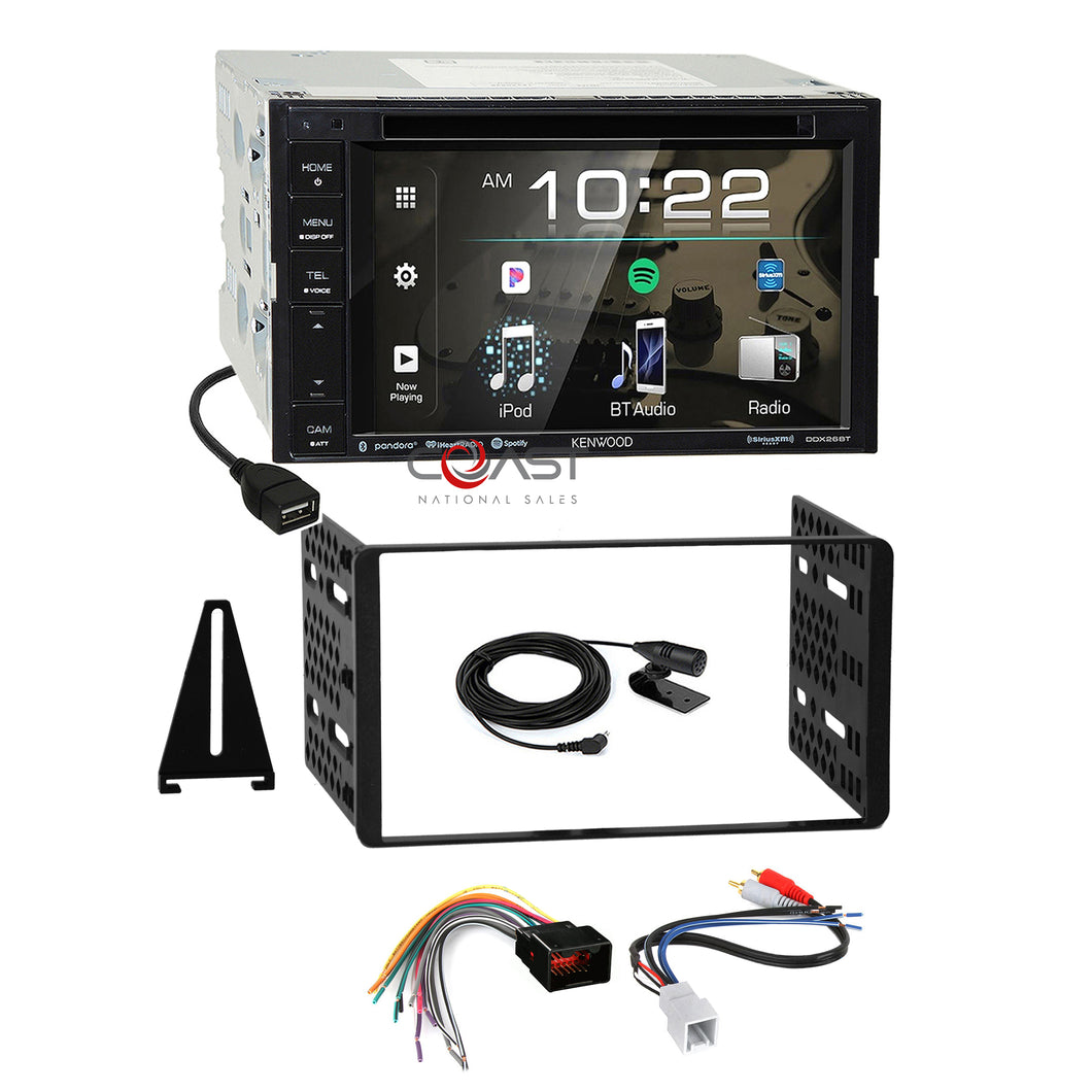 Kenwood DVD USB Sirius Stereo Dash Kit Amp Harness for 98+ Ford Lincoln Mercury