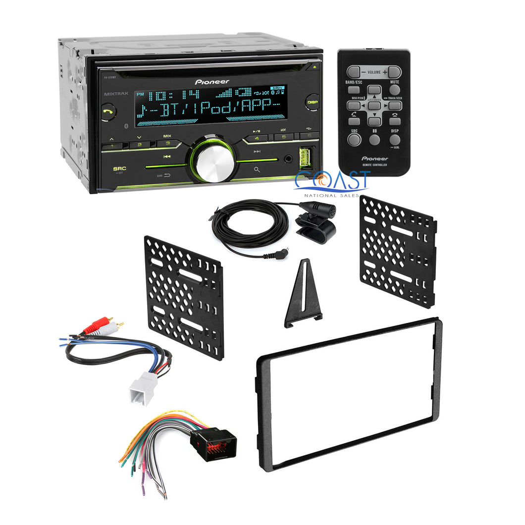 Pioneer Bluetooth Car Stereo + Dash Kit Harness for 98-UP Ford Lincoln Mercury