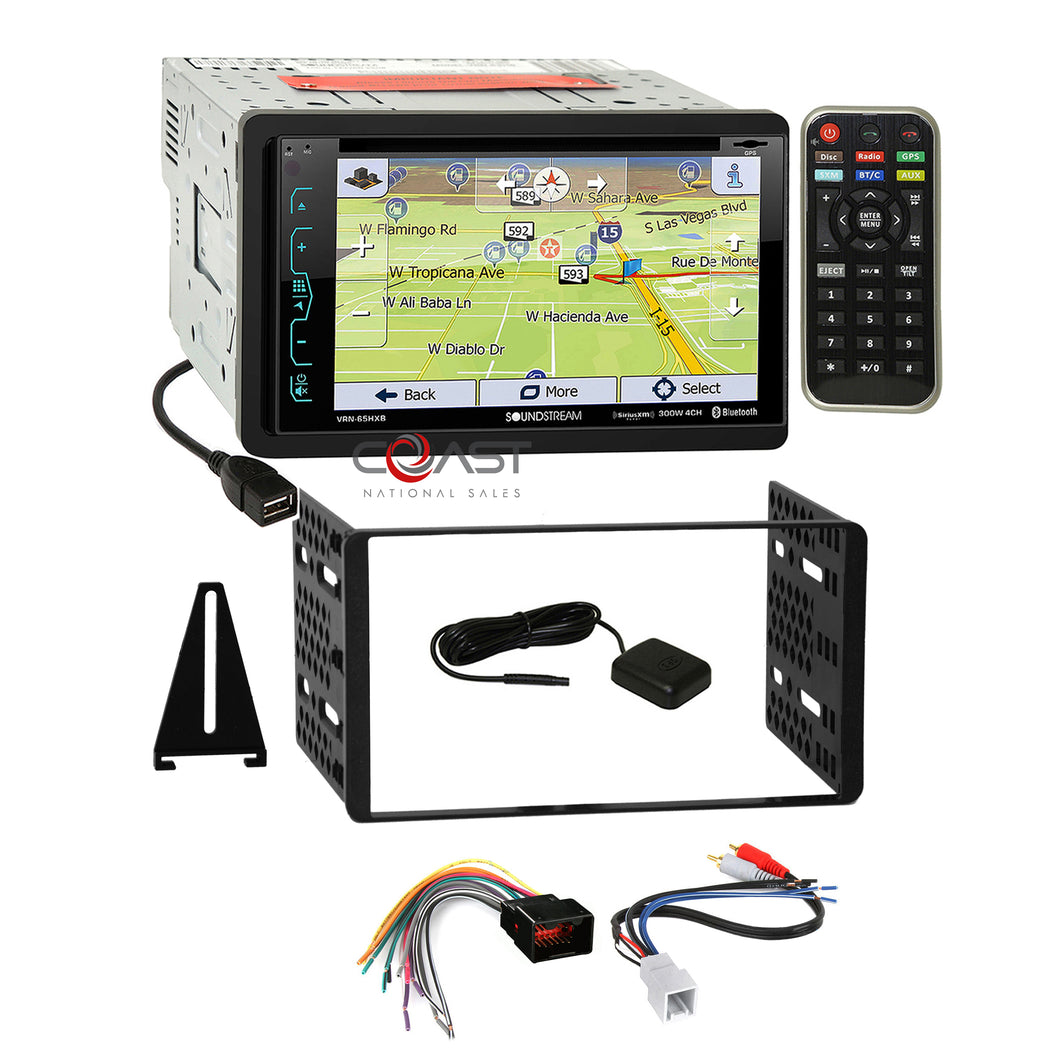Soundstream DVD Sirius GPS stereo Dash Kit Amp Harness for Ford Lincoln Mercury
