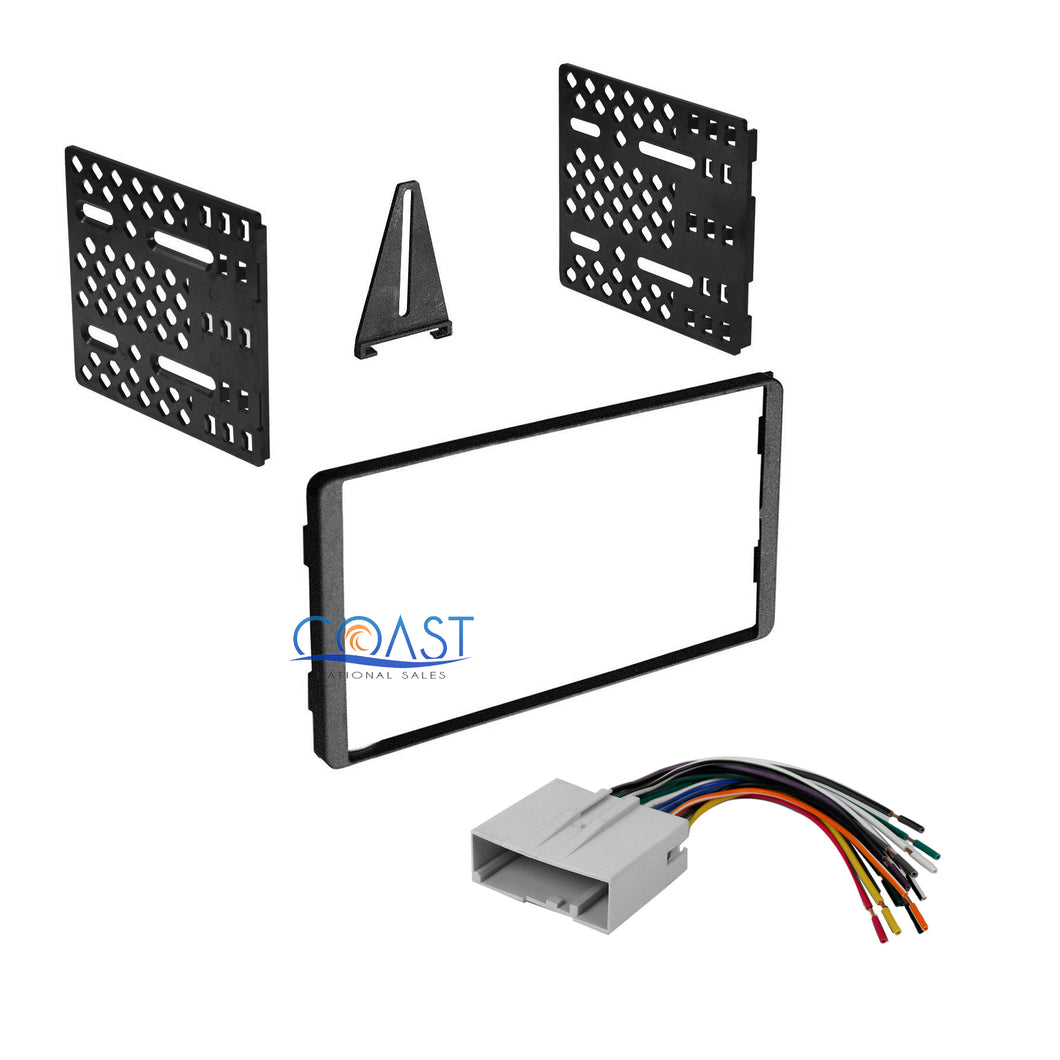 Car Radio Stereo Double Din Dash Kit Wire Harness for 2003-2010 Ford Mercury