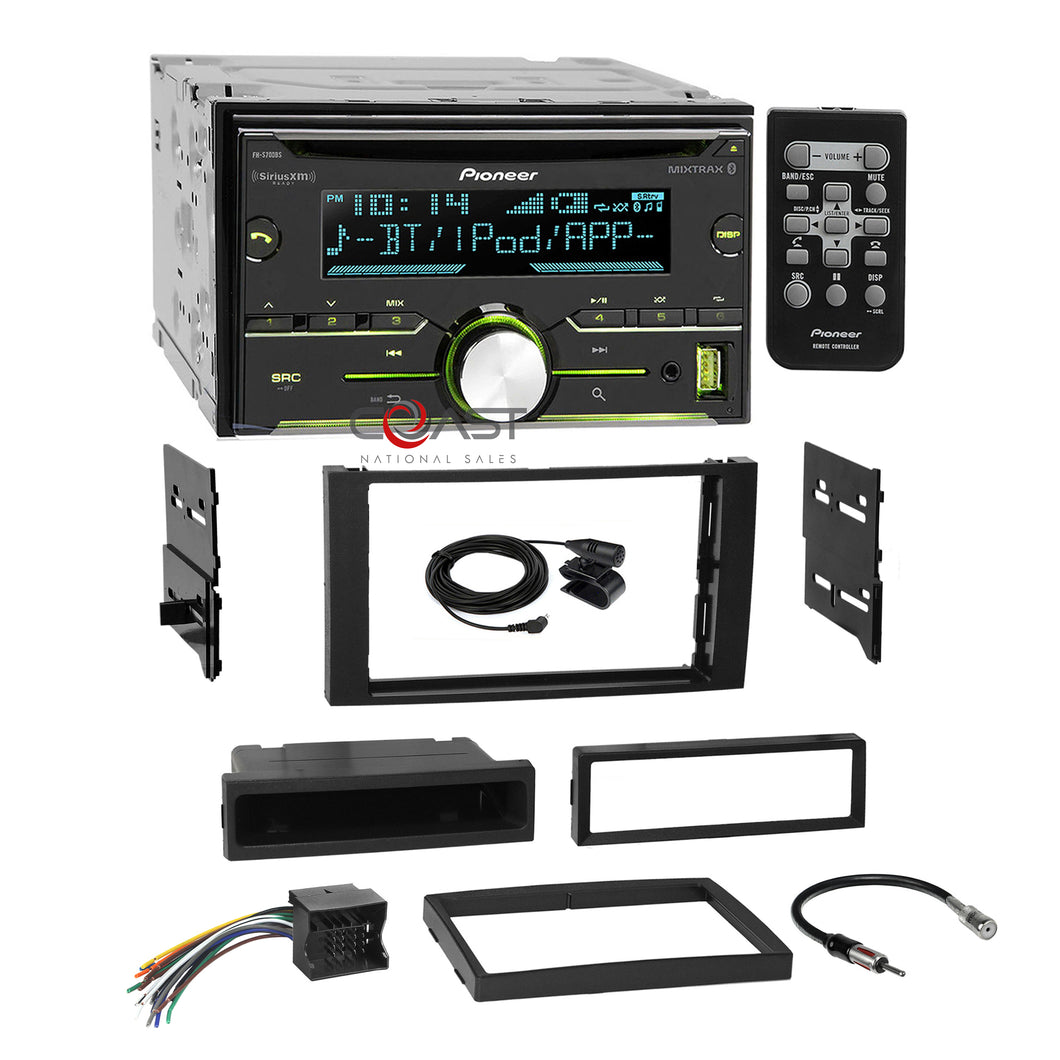 Pioneer CD USB Sirius Stereo Dash Kit Harness for 2010-11 Ford Transit Connect