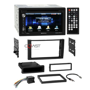 Soundstream DVD USB BT Stereo Dash Kit Harness for 10-11 Ford Transit Connect