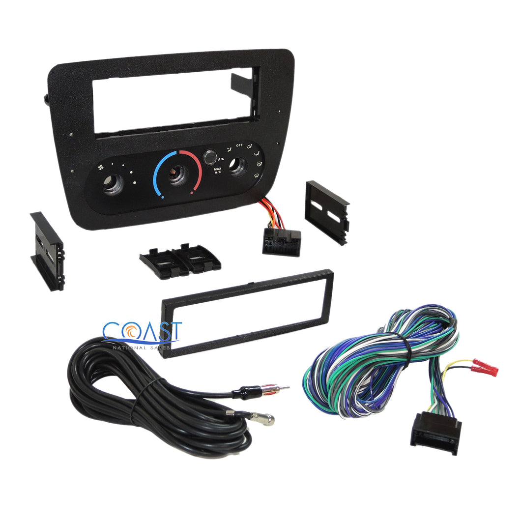 Car Radio Stereo Dash Kit Bezel Harness for 2000-2007 Ford Taurus Mercury Sable