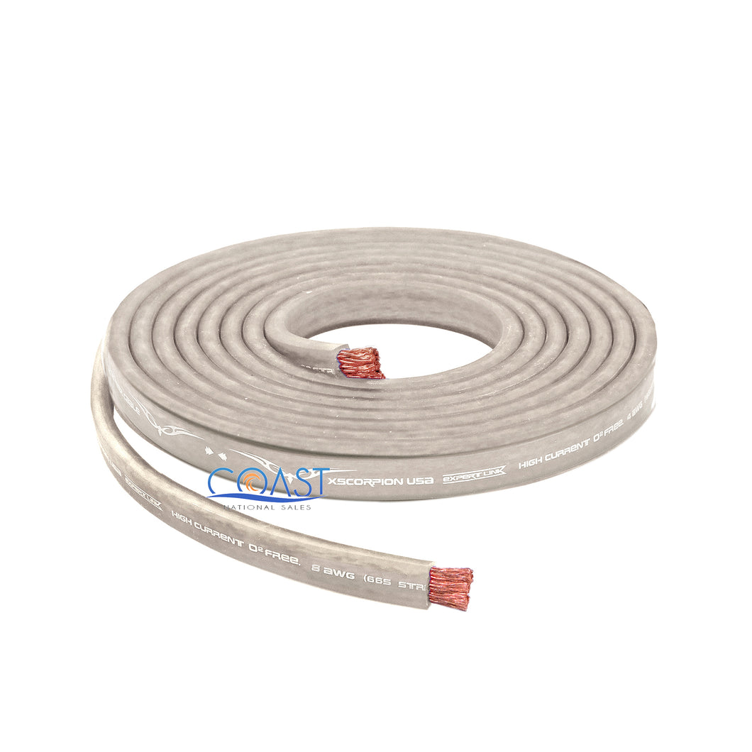 OFC Copper 1666 Strand Count 4 Gauge Platinum Flat Power Ground Cable - 5ft