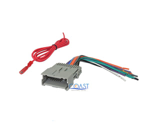 Car Radio Stereo Single Din Dash Kit Wiring Harness for 1992-up GM Chevy Isuzu