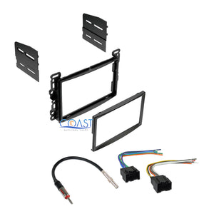 Car Stereo Double Din Dash Kit Harness Antenna for 2006-2007 Saturn Ion Vue