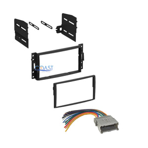 Car Stereo Radio Double Din Dash Kit for 2005-2010 Chevry Pontiac Saturn Hummer