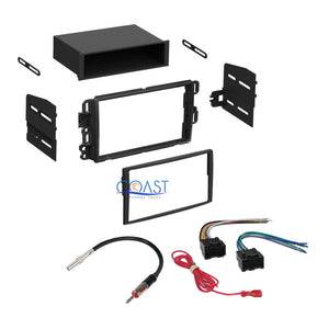 Car Stereo Double DIN Kit Harness Antenna for 2006-2010 Chevry Pontiac Saturn