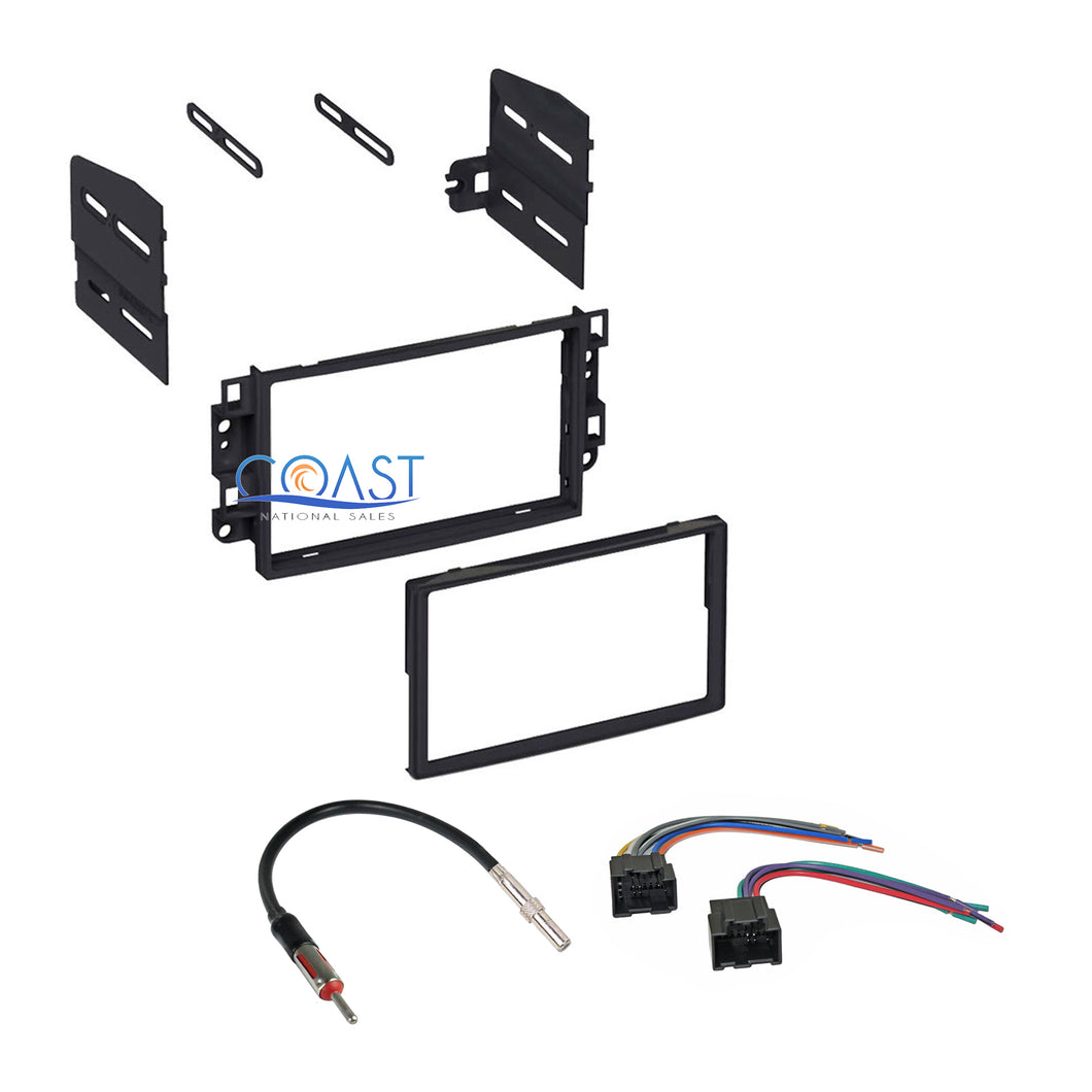 Single Double DIN Stereo Dash Kit Harness Antenna for 2007-2011 Chevrolet Aveo