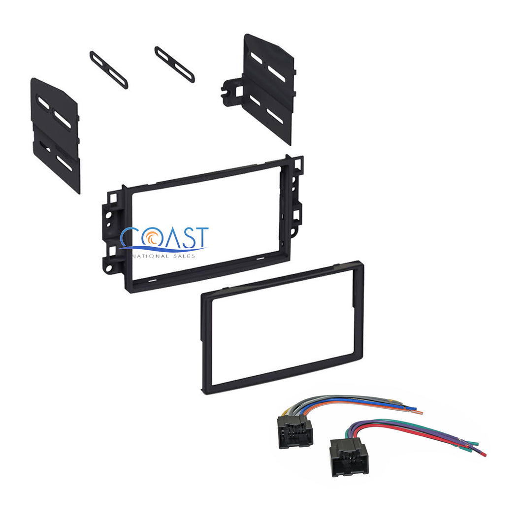 Single Double DIN Car Stereo Dash Kit with Harness for 2007-2011 Chevrolet Aveo