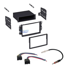 Car Stereo Single DIN Dash Kit Harness Antenna for 2007-2011 Chevrolet Pontiac