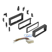 Load image into Gallery viewer, Single DIN Stereo Dash Kit + harness for 1982-2004 GMC Saturn Chevy Caddilac