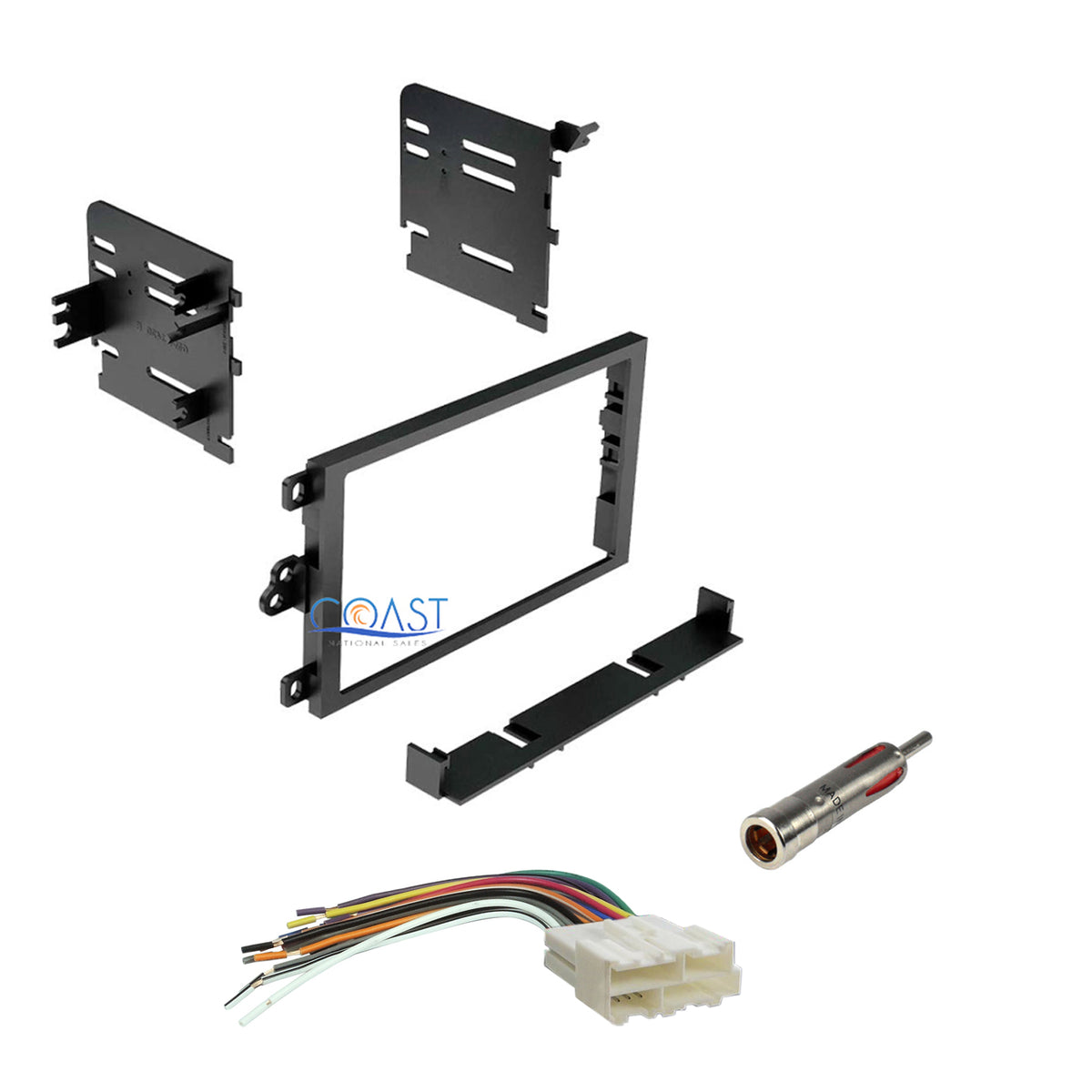 Double DIN Dash-Kit + Harness + Antenna Package GM Chevy