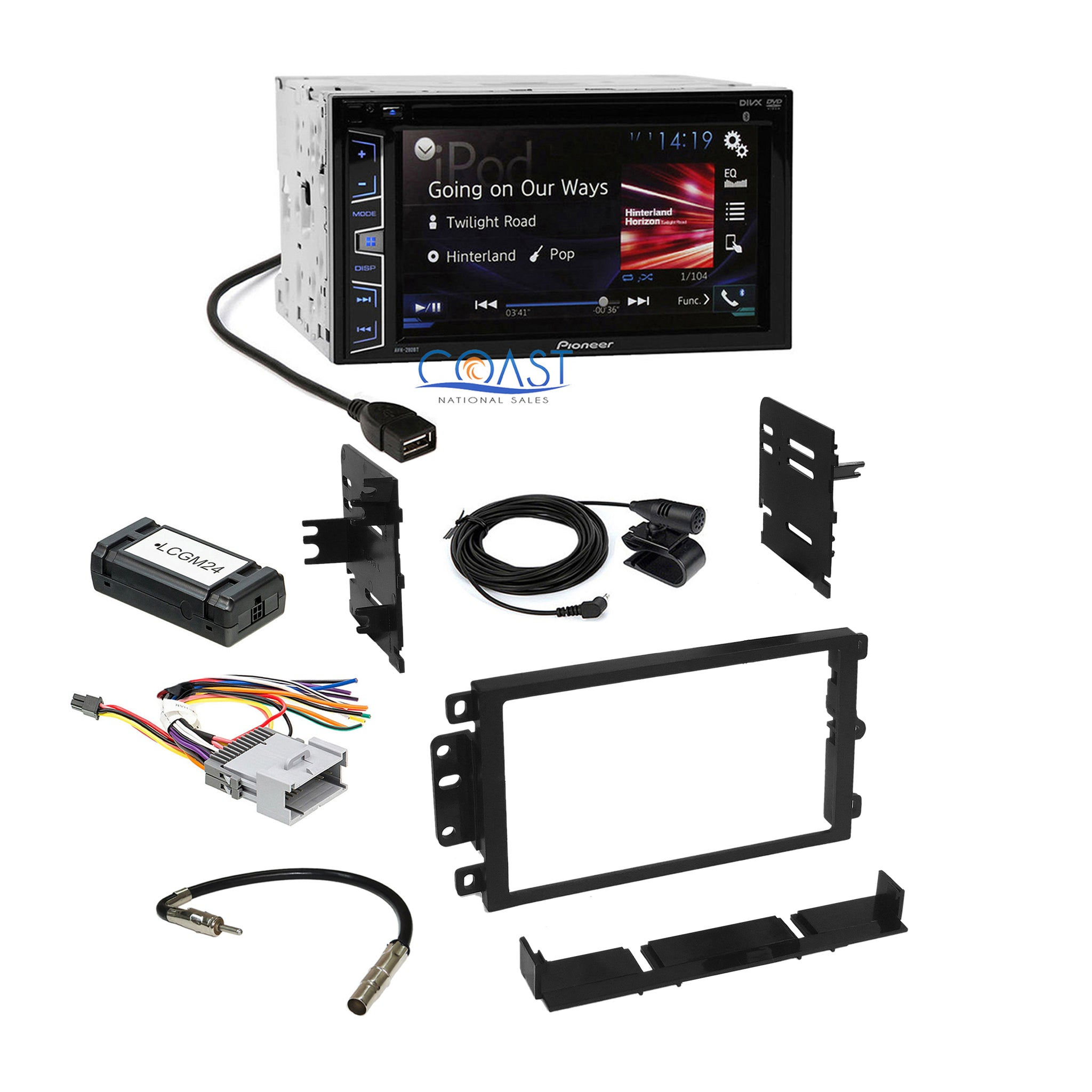 Fits GMC Envoy 2002-2009 Double DIN Aftermarket Harness Radio Install Dash Kit