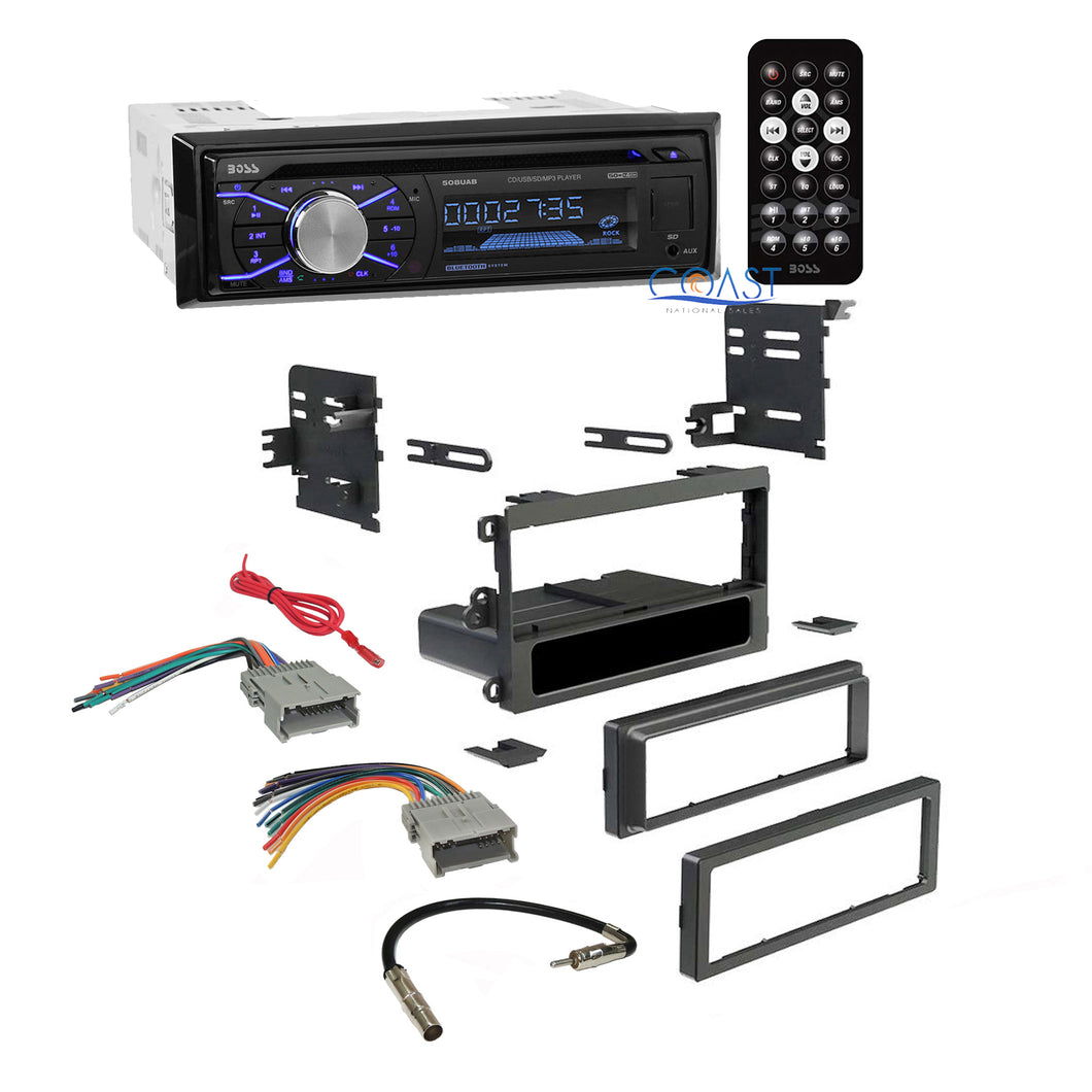 Boss Car Radio Stereo Double Din Dash Kit Harness for 1992-up Chevy GMC Pontiac