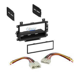 Single Din Car Stereo Dash Kit Harness Combo for 1995-1997 Geo Metro Tracker