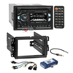 Soundstream 2018 CD SD MP3 USB Dash Kit Amp Harness for Buick Chevy GMC Pontiac