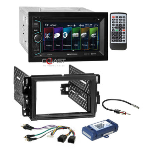 Soundstream 2018 DVD Bluetooth Dash Kit Amp Harness for Buick Chevy GMC Pontiac