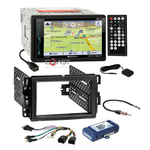 Soundstream DVD GPS Bluetooth Dash Kit Bose Harness for Buick Chevy GMC Pontiac
