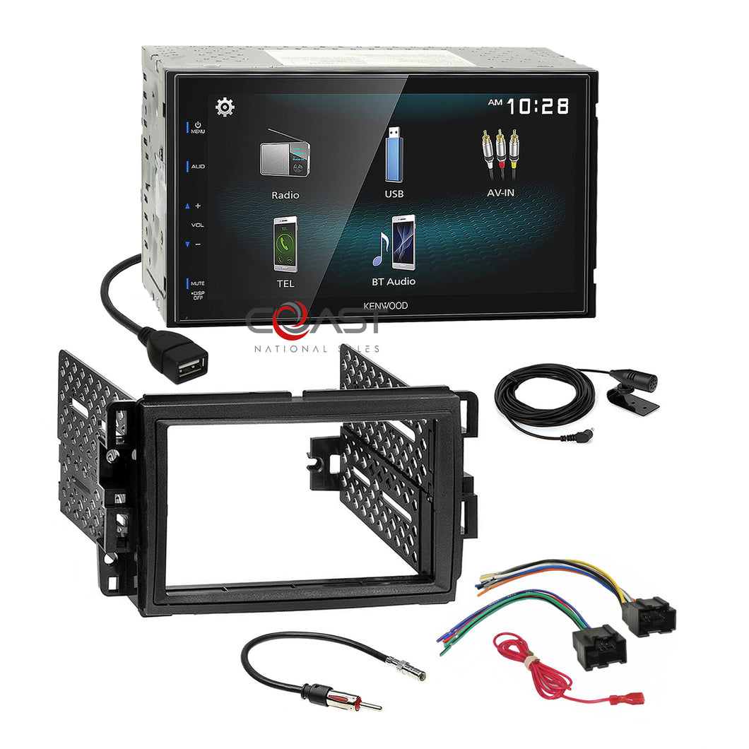 Kenwood BT Smartphone Android Stereo Dash Kit Harness for GM Buick Chevy Pontiac