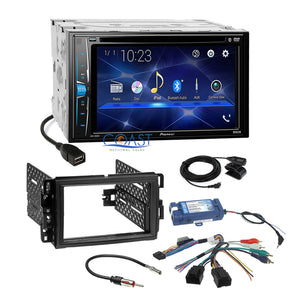 Pioneer DVD Bluetooth Stereo Dash Kit Steering Harness for GM Buick Chevrolet