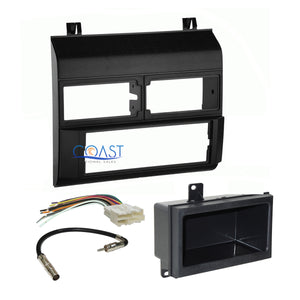 Car Stereo Radio Black Dash Kit Antenna Harness for Chevy GMC Trucks 1988-1994