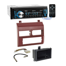 Load image into Gallery viewer, Boss Radio Stereo + Burgundy Dash Kit Antenna Harness for Chevy GMC Truck 88-94