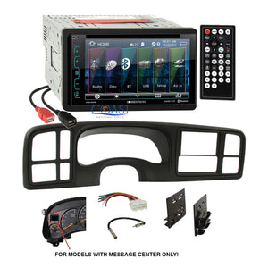 Soundstream DVD USB Bluetooth Stereo Dash Kit Harness for 1999-02 GM Trucks SUV