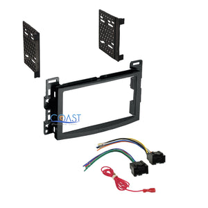 Car Radio Stereo DDin Dash Kit Harness for 2006-2009 Saturn Aura Ion Sky Vue