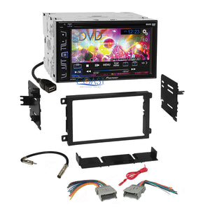 Pioneer Touchscreen Stereo 2 Din Dash Kit Harness for 1992-up Chevy GMC Pontiac