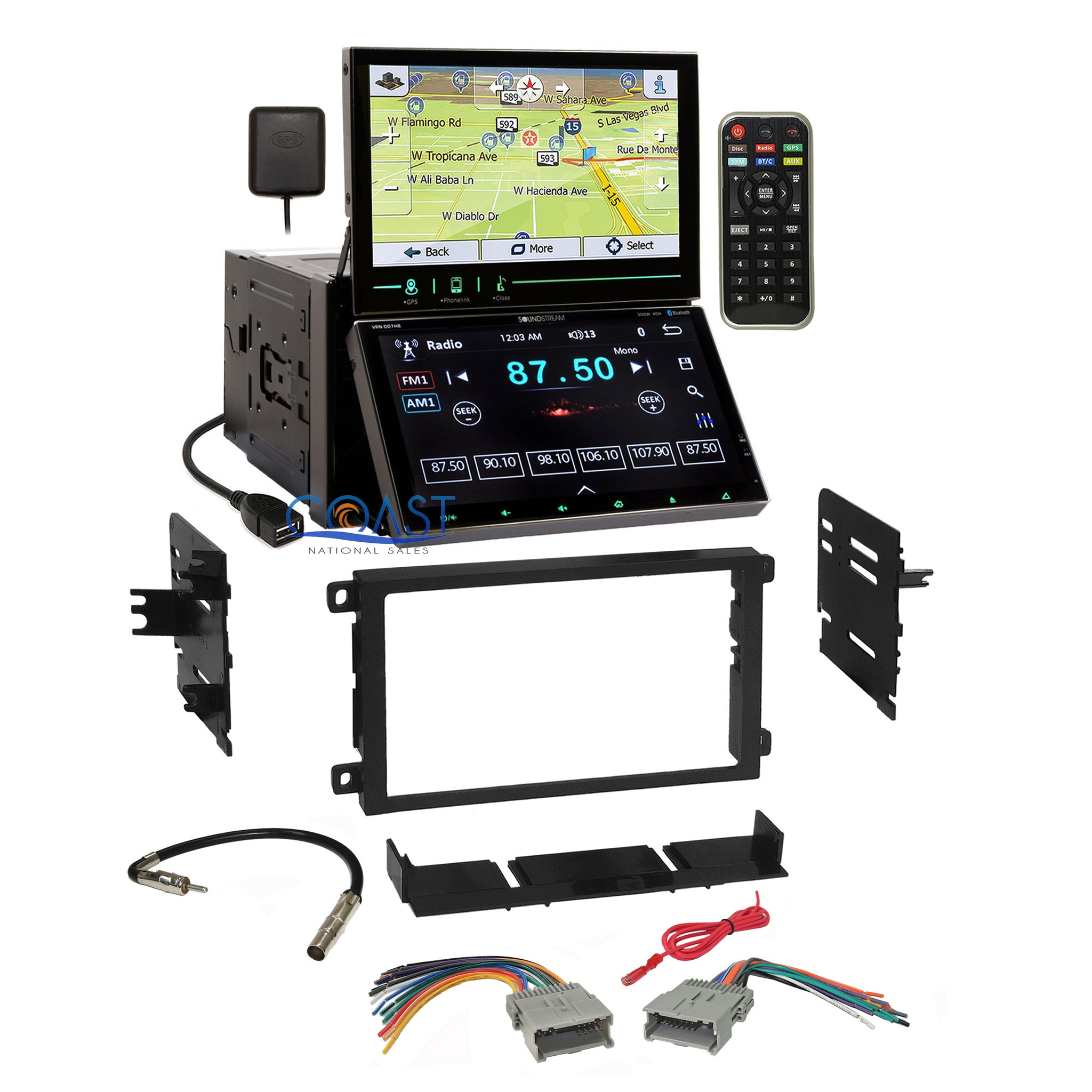 Soundstream 2 Screen DVD GPS Stereo Dash Kit Harness for 92+ ... on 1987 chevy dash harness, chevy suburban wire harness, 1971 chevelle dash harness, dash radio, 1967 chevrolet van dash harness, 99 firebird dash harness, dash gauges,