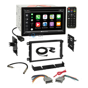 Soundstream 2018 DVD Carplay Stereo Dash Kit Harness for 92+ Chevy GMC Pontiac