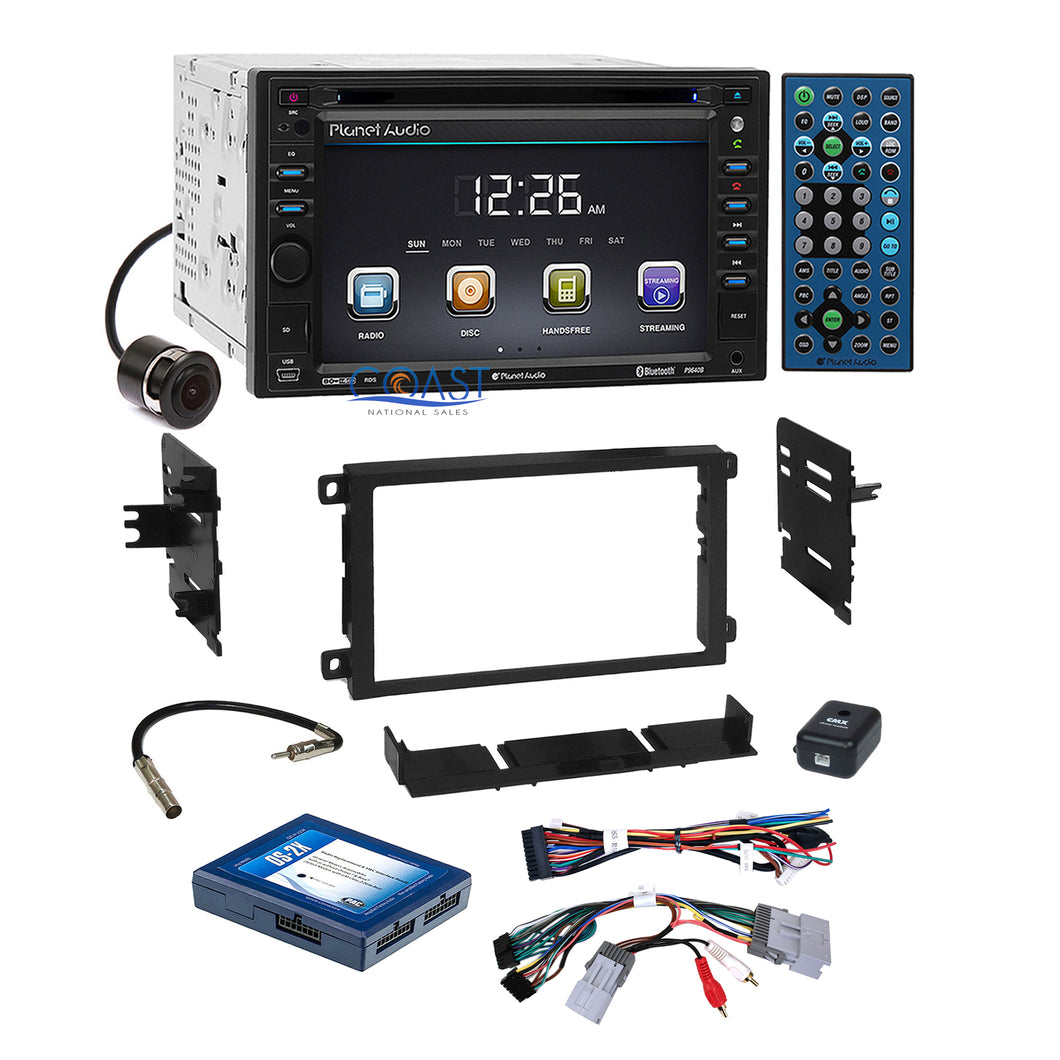 Planet Audio DVD Camera Stereo Dash Kit Onstar Harness for 2000+ GM Chevrolet