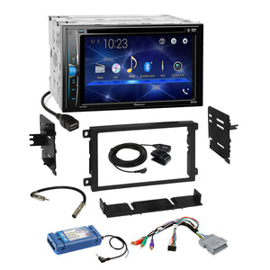 Pioneer 2018 DVD USB Bluetooth Stereo Dash Kit Amp SWC Steering Harness for GM