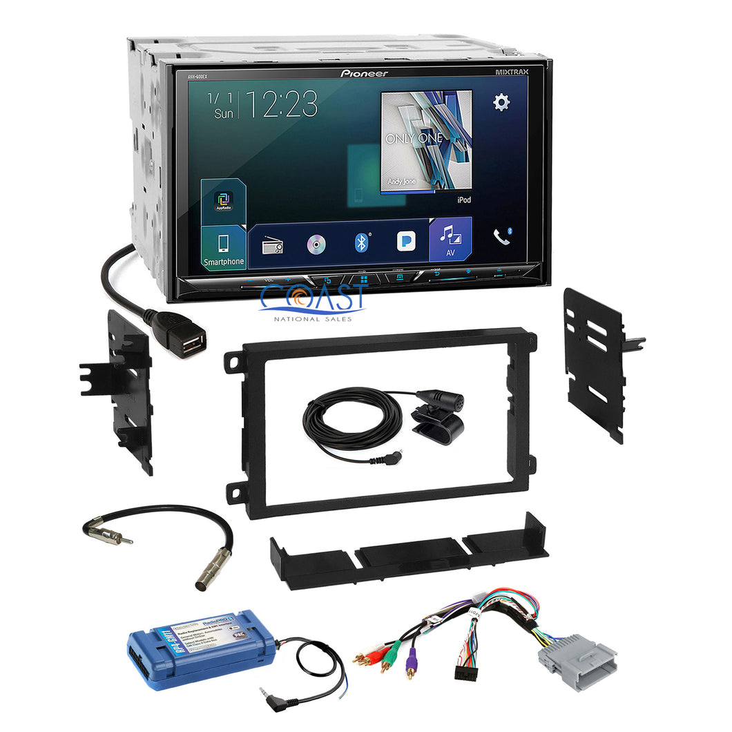 Pioneer 2018 DVD Sirius GPS Ready Stereo Dash Kit Amp Steering Harness for GM