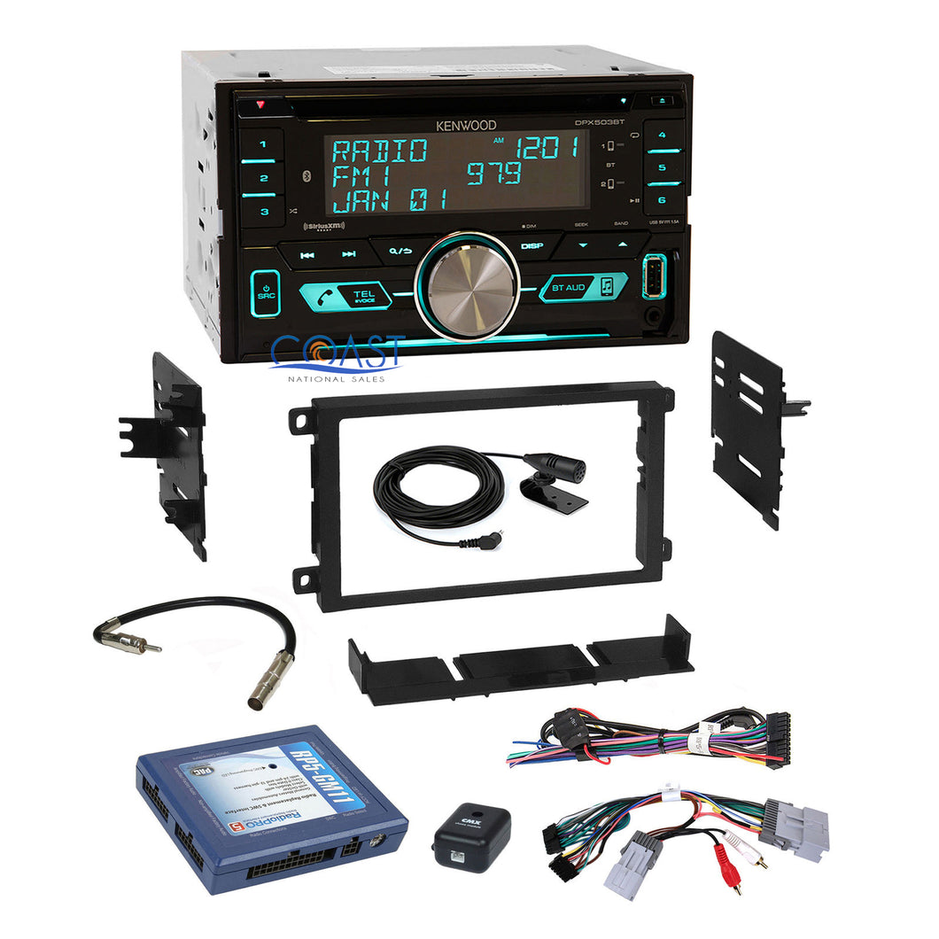 Kenwood SiriusXm Bluetooth Stereo Dash Kit Bose Onstar Harness for GM Chevrolet