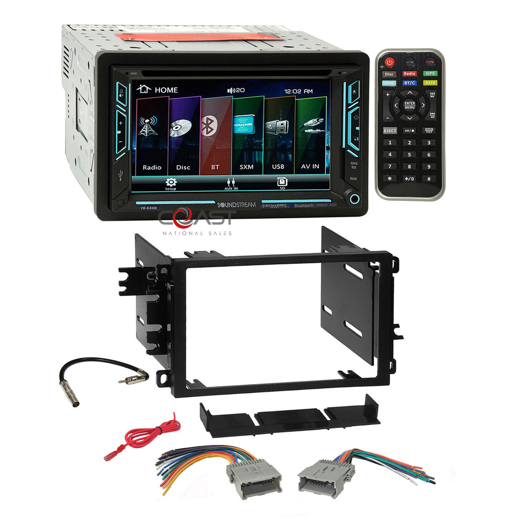 Soundstream DVD BT USB Sirius Stereo Dash Kit Harness for 92+ Chevy GMC Pontiac