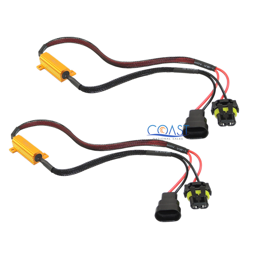 Error-Free Load Resistor LED Warning Light Decoder Wire Harness H11 H8 - 2 pcs