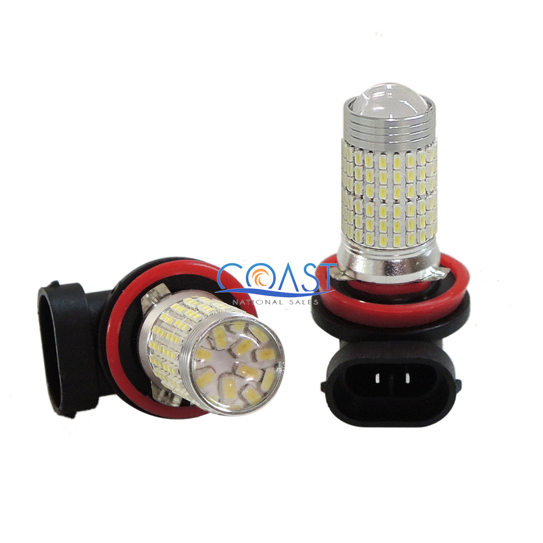 CREE 144 SMD Ultra White 3014 LED Projector Driving DRL Fog Light Bulb H11 H8