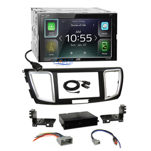 JVC Carplay Sirius Waze Spotify Stereo Dash Kit Harness for 13-15 Honda Accord