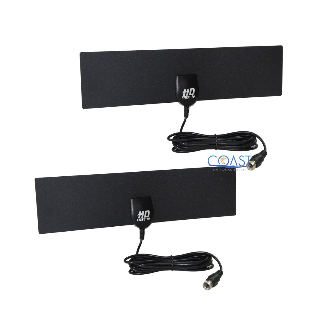 2X Full Hd 1080P Free Television Digital Indoor Antennas Ready As Seen On TV