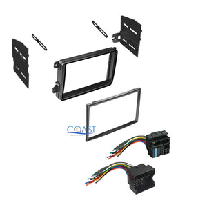 Single Double DIN Car Stereo Dash Kit + Harness Combo for 2005-2010 Volkswagon