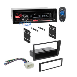 JVC Car Radio Stereo Single DIN Dash Kit Wire Harness for 2001-2005 Honda Civic