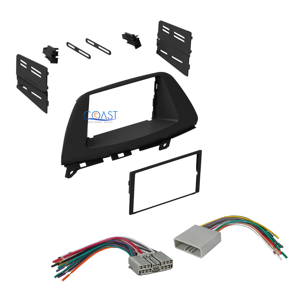 Single Double DIN Car Stereo Dash Kit Wire Harness for 2008-2010 Honda Odyssey