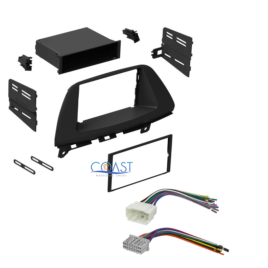 Single Double DIN Stereo Dash Kit + Harness Combo for 2005-2007 Honda Odyssey