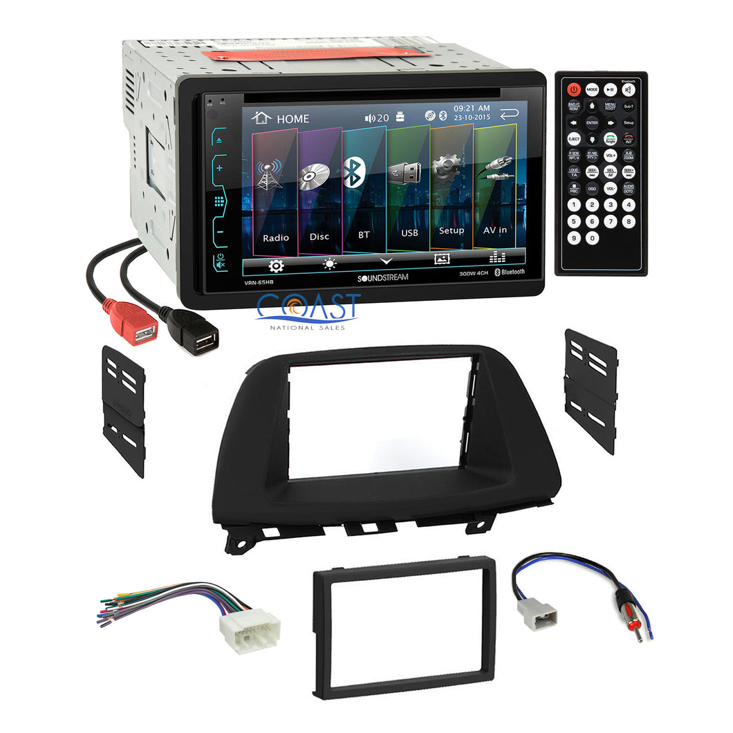 Soundstream DVD USB Bluetooth Stereo Dash Kit Harness for 2005-07 Honda Odyssey