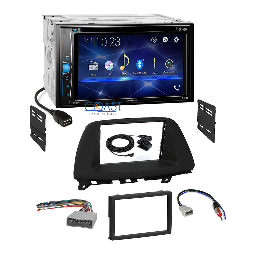 Pioneer 2018 DVD Bluetooth Stereo Dash Kit Harness for 2008-2010 Honda Odyssey