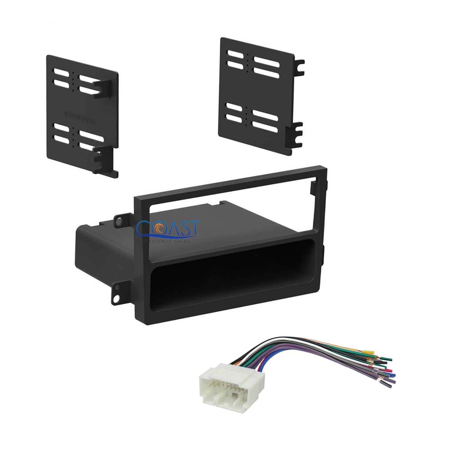 Car Radio Stereo Single Din Dash Kit Wire Harness For 2007